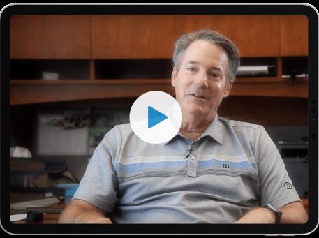 joe truckey ironorbit testimonial with play button